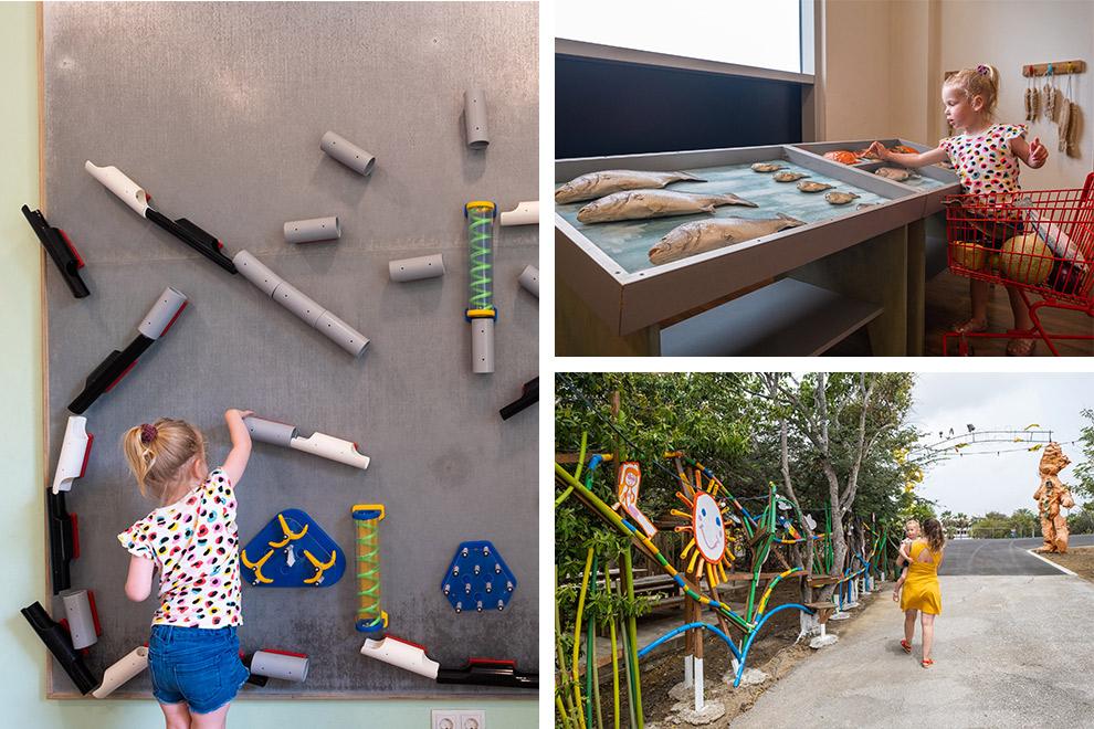 Maeve op ontdekkingstocht in het Kindermuseum in Curaçao