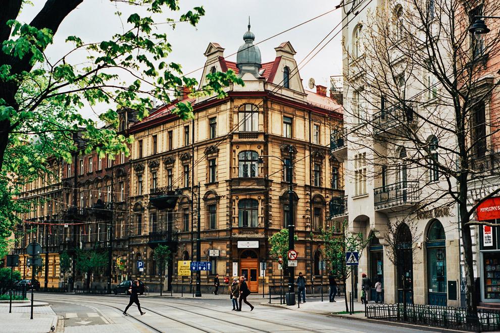Stadscentrum Krakau in Polen