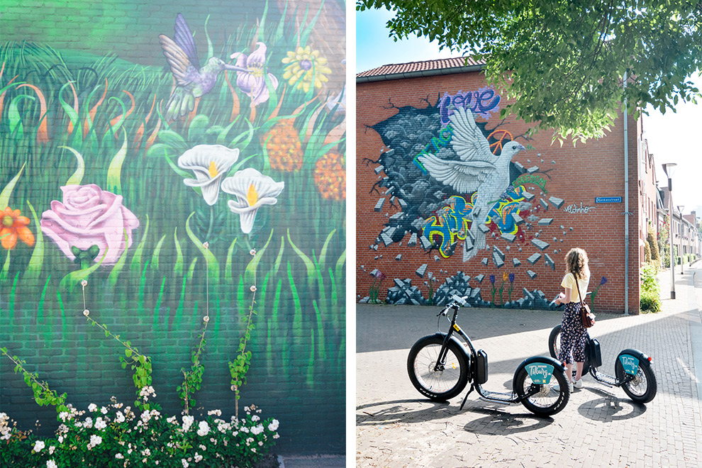 Kleurrijke muurschilderingen in Tilburg ontdekken per step