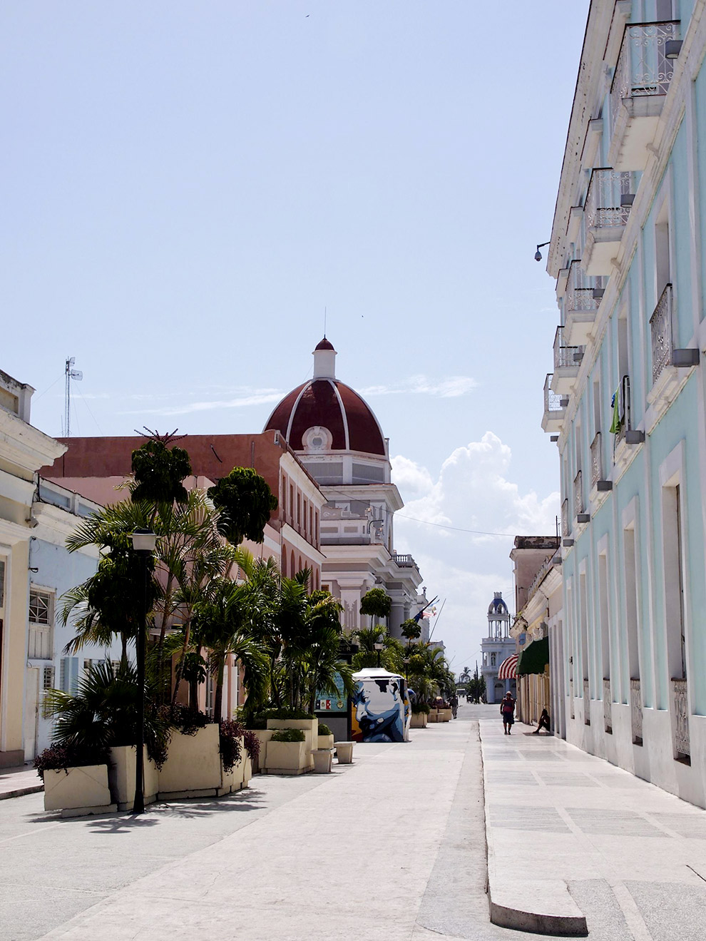 The streets of the French colonial city Cienfuegos