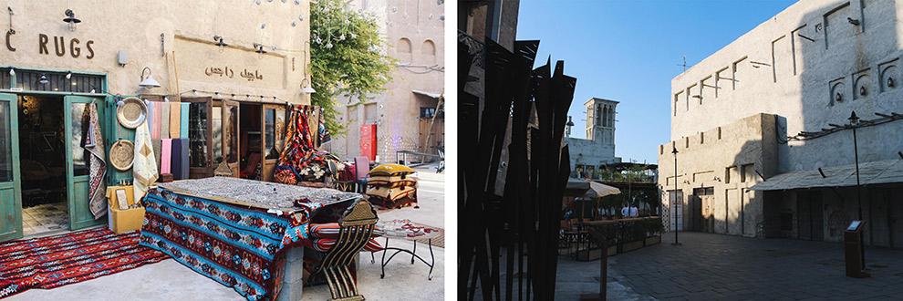 Oude gedeelte van Dubai in Arabische stijl
