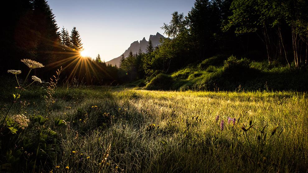Uitzicht over de bergen van Dents du Midi in Zwitserland