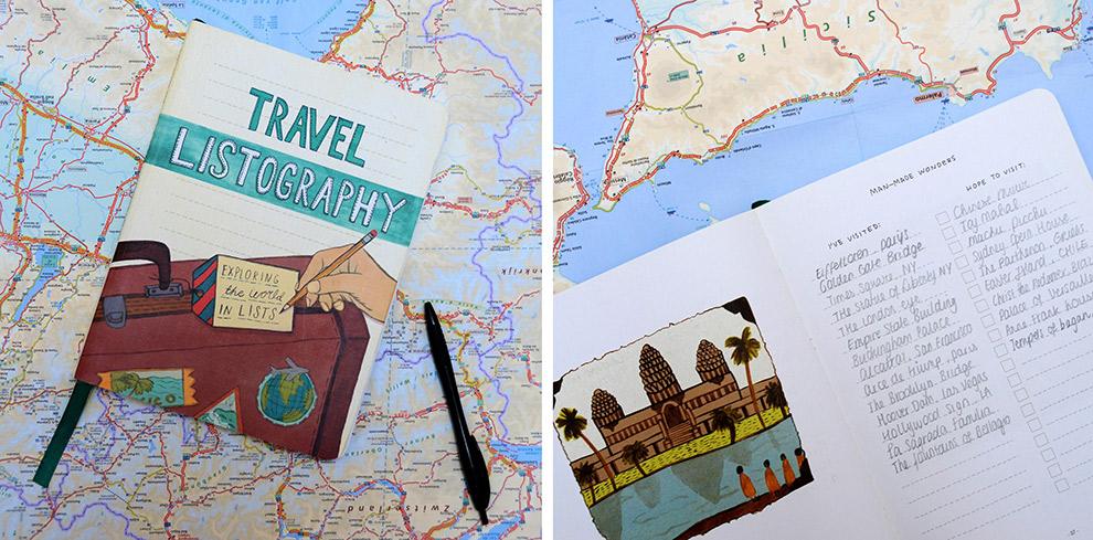 Houd je reizen bij in lijstjes in het Travel Listography boek