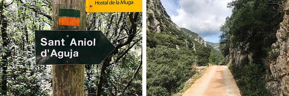 Wandelroute naar Sant Aniol de Aguja in Spanje