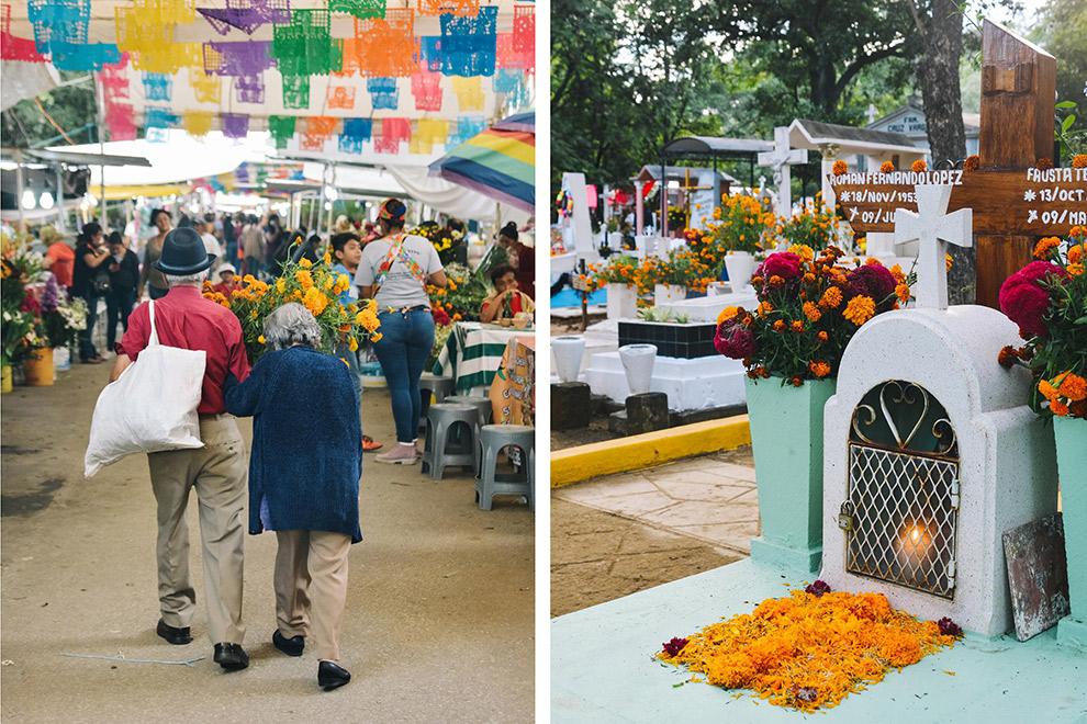 Tradities van het Mexicaanse Dia de los Muertos zichtbaar in stad Oaxaca