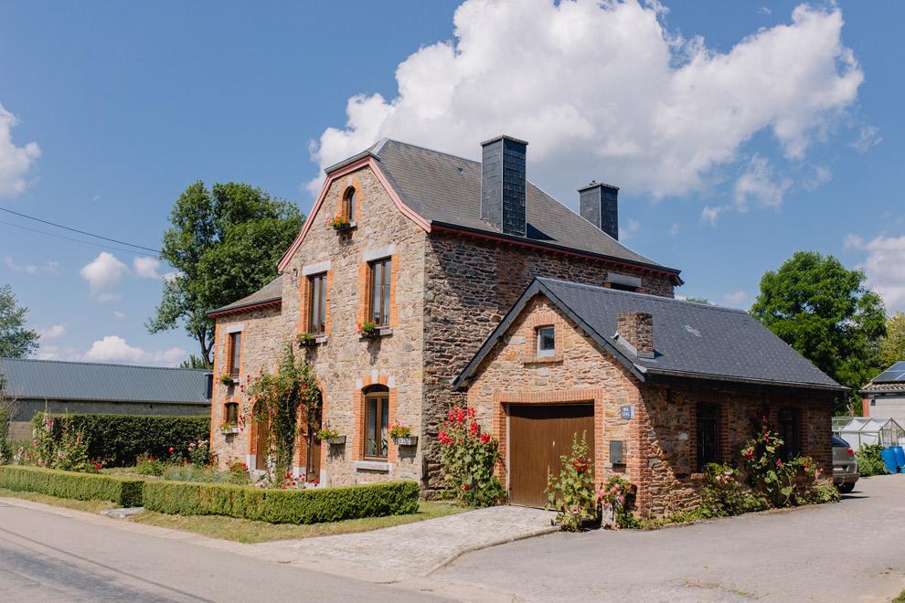 Typische huizen van de Ardennen