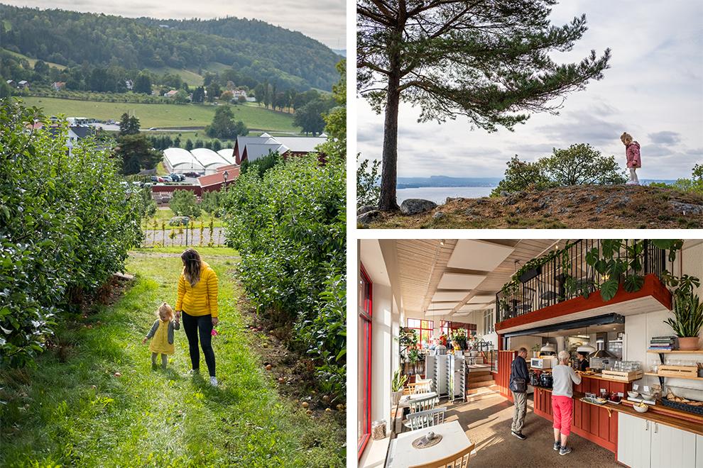 Lunchen en wandelen in ht snoepstadje Gränna in Zweden
