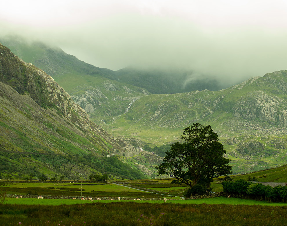 De Ogwen Valley in Wales