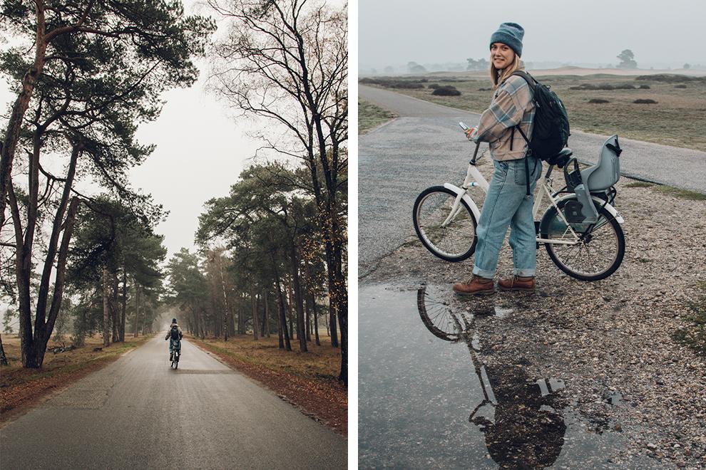 Op de fiets door het mistige en regenachtige Veluwe