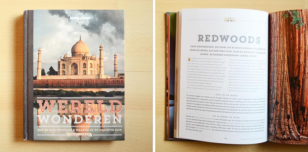 50 wereldwonderen samen gebundeld in het boek van Lonely Planet