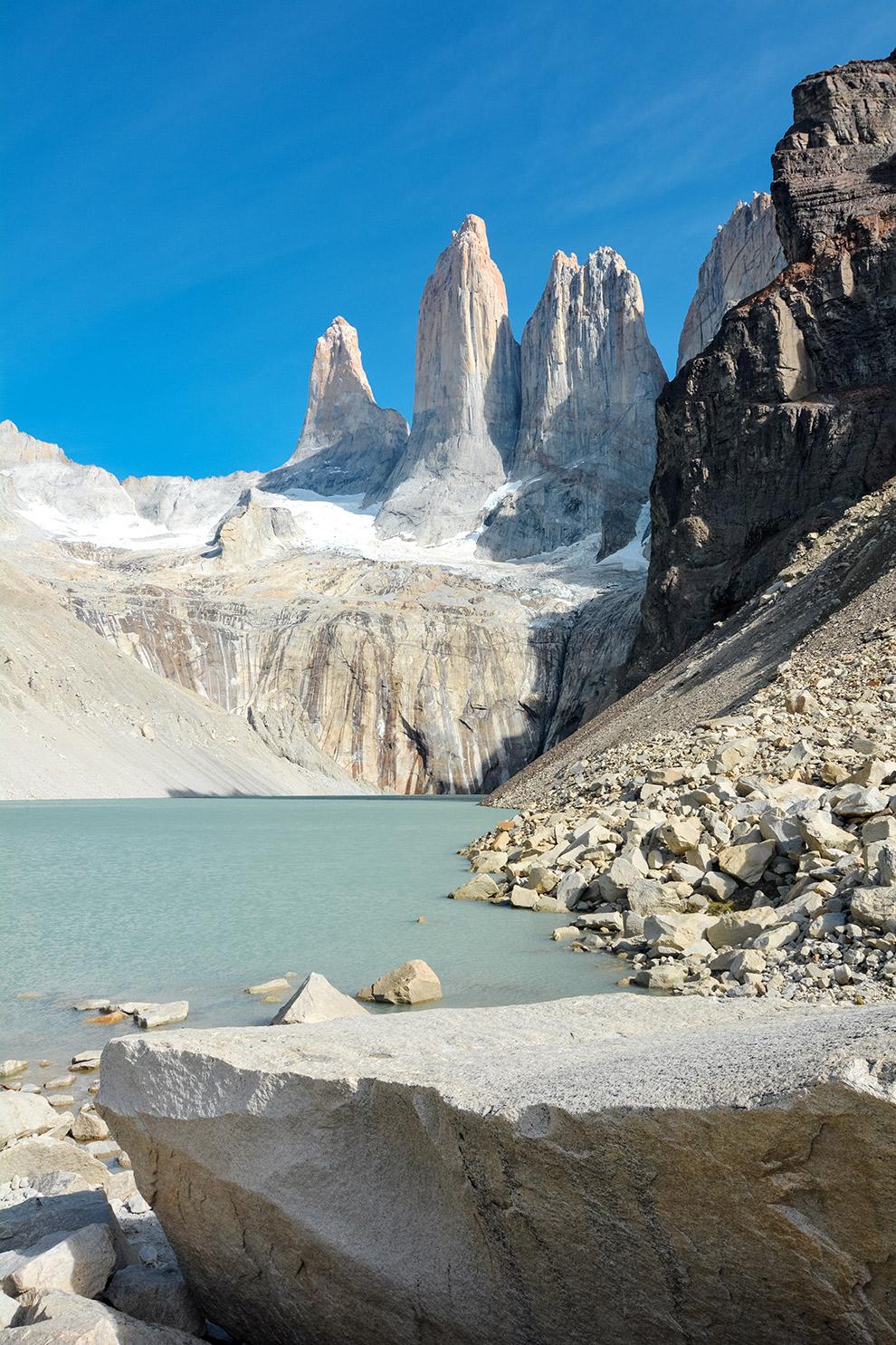 Hike naar de top van de drie torens in Torres del Paine