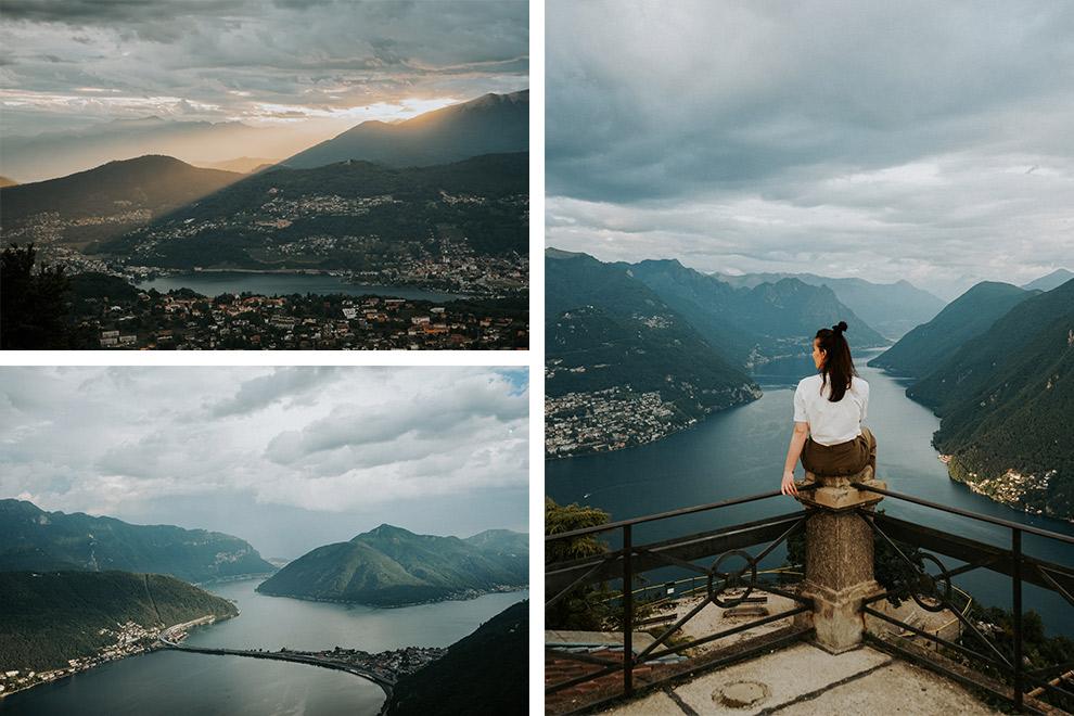 Indrukwekkend uitzicht op de Monte San Salvatore in Zwitserland
