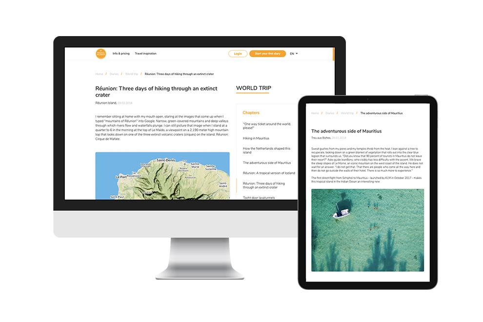 Publiek dagboek delen via editor op je scherm
