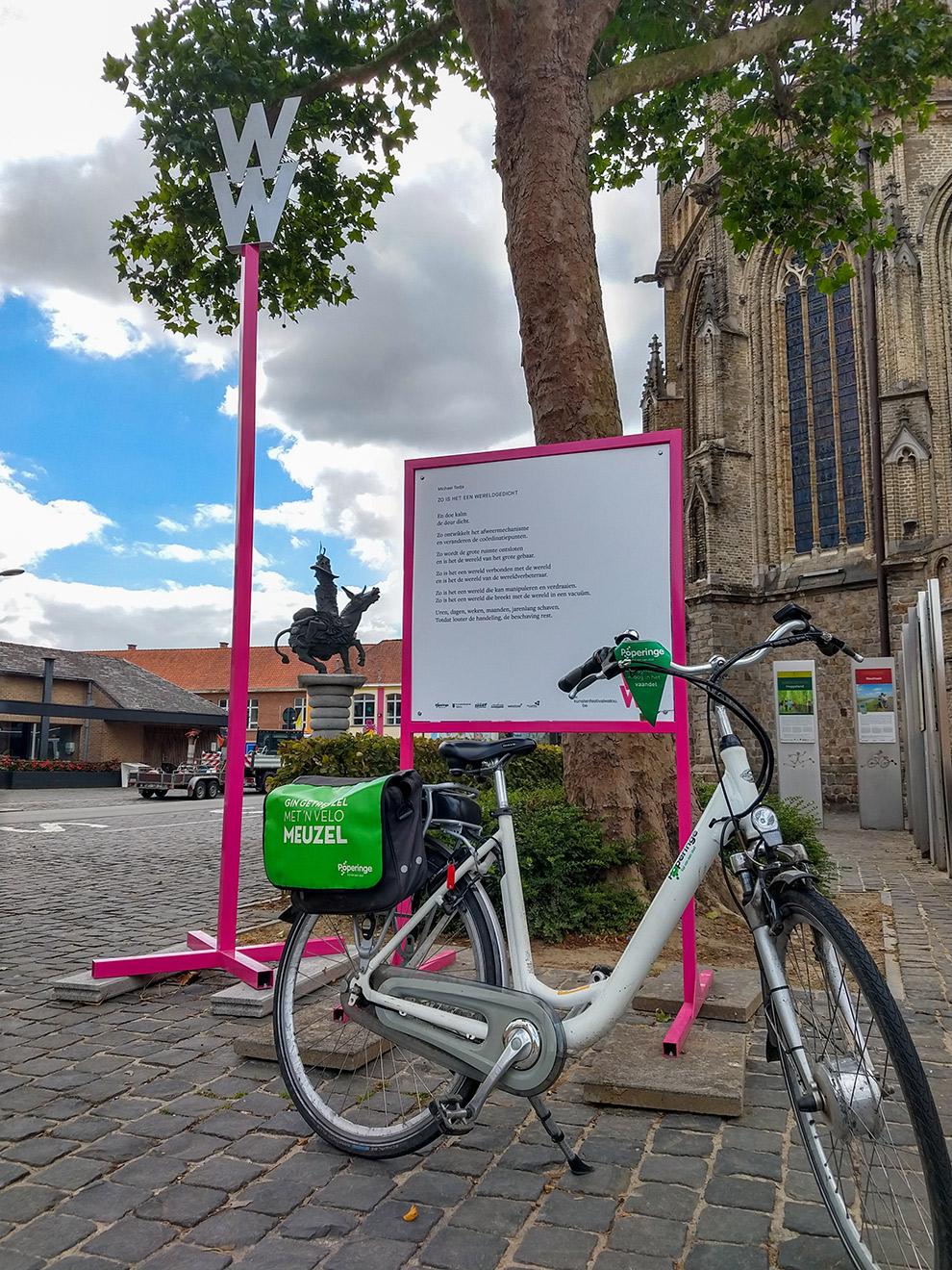 Verken het gedichtenparcours op de fiets