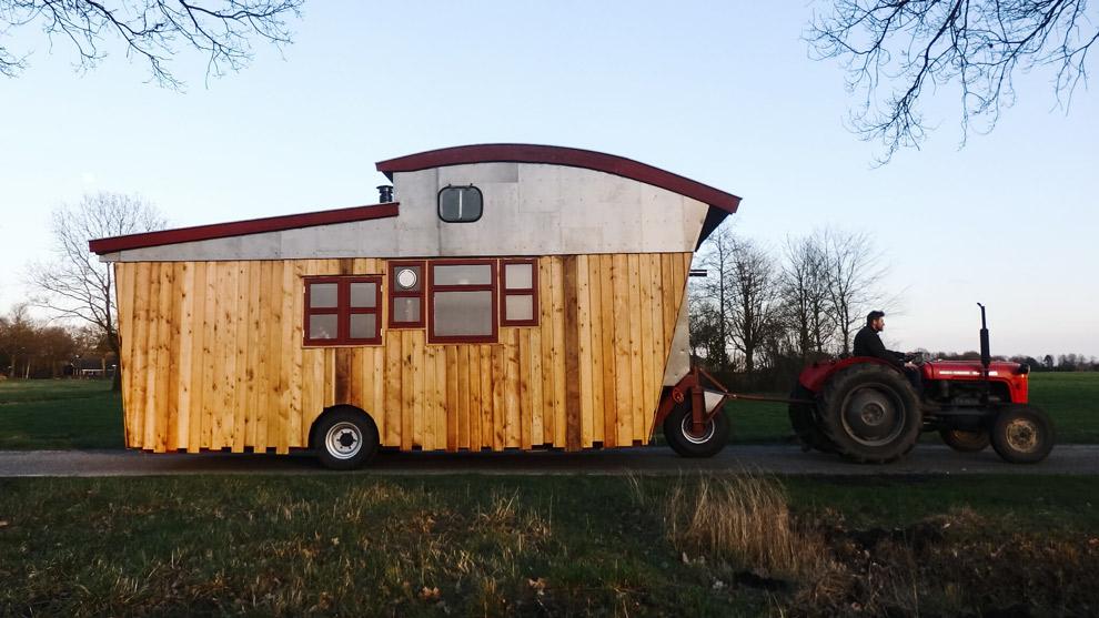 Tiny house in Drenthe op wielen