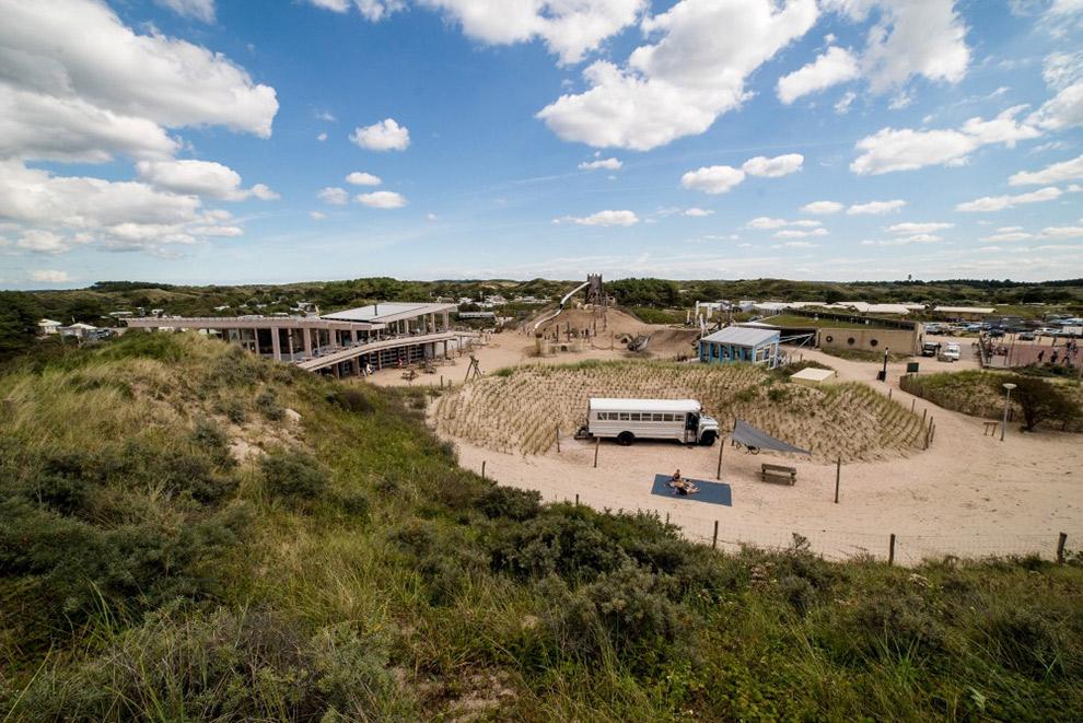 Uitzicht over Camping De Lakens