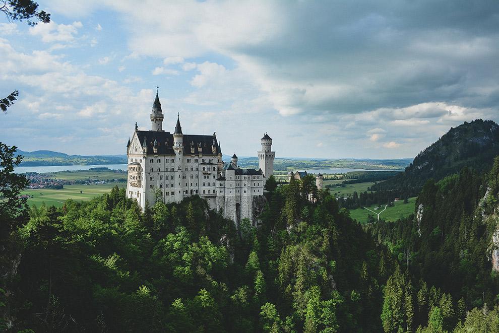 Uitzicht over het Slot Neuschwanstein in Duitsland
