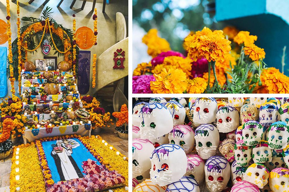 Kleurrijke versieringen typerend voor Mexicaans volksfeest Dia de los Muertos
