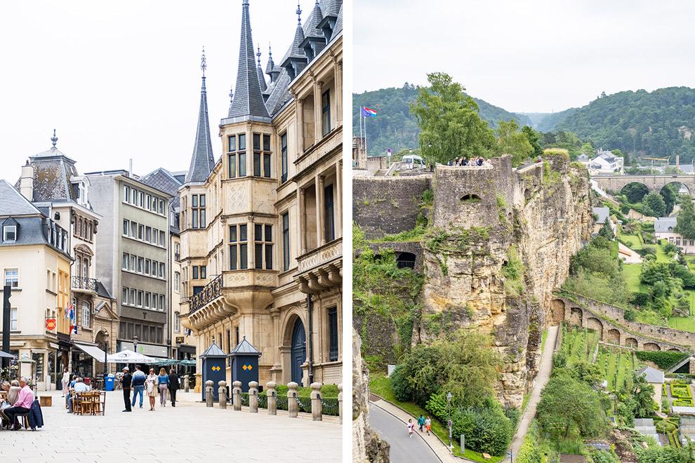 Het Groothertogelijk Paleis en de kazematten in Luxemburg als bekende historische bezienswaardigheden