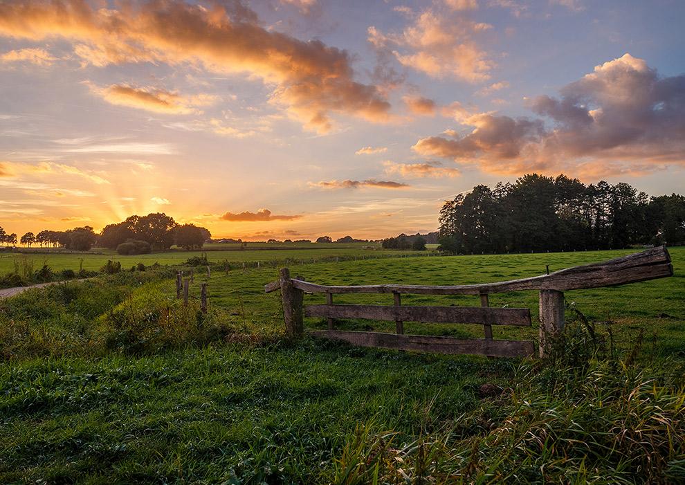 Typisch Twents boeren landschap