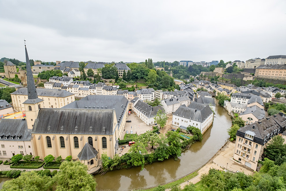 Uitzicht op Luxemburg-stad