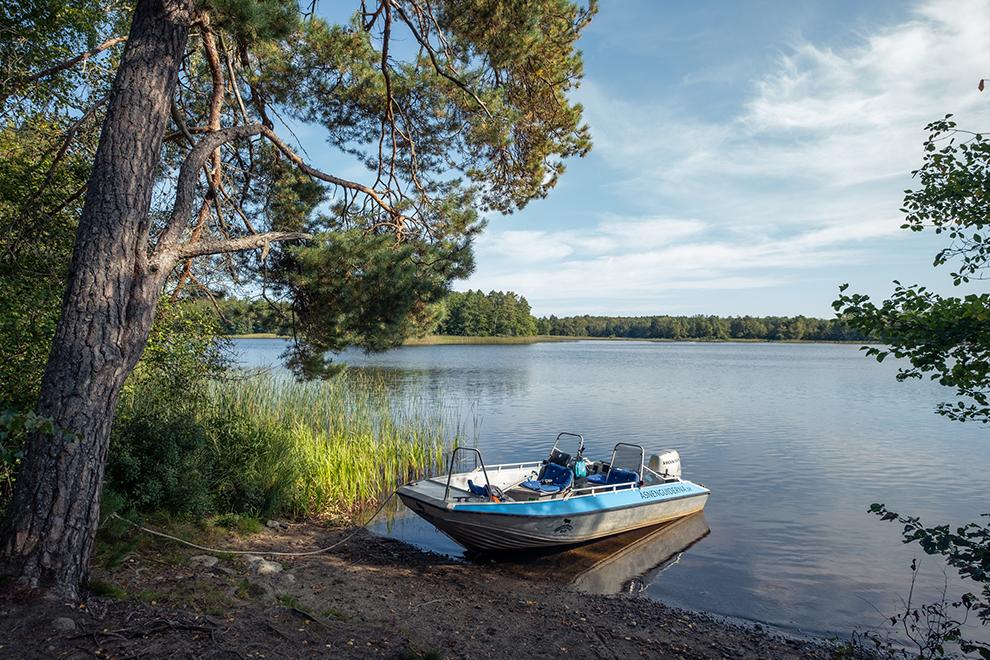 Bootje meert aan bij natuurparadijs Getnö Gård