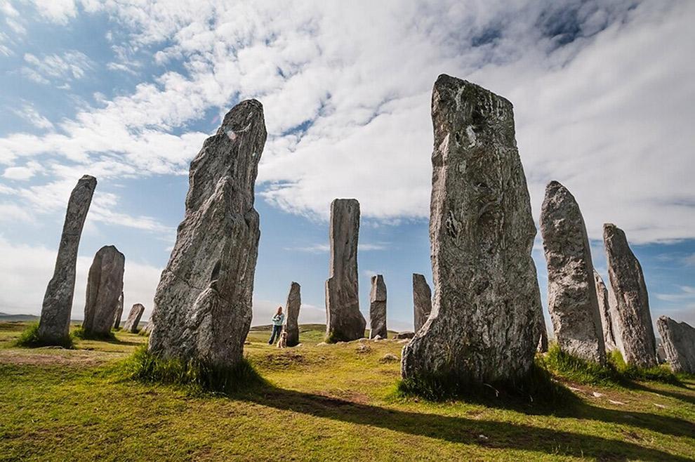 Historische stenen verticaal in een cirkel