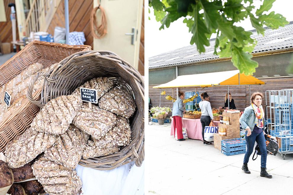Versgebakken brood op de boerenmarkt bij de Kemphaan in Almere