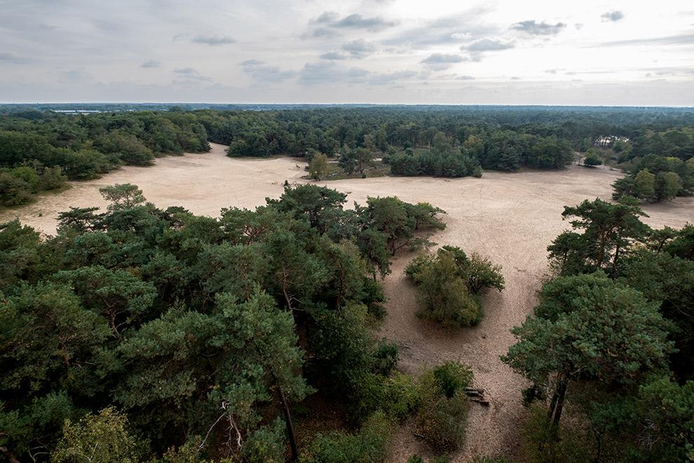 Dronefoto van Noord-Brabantse Herpersduingebied