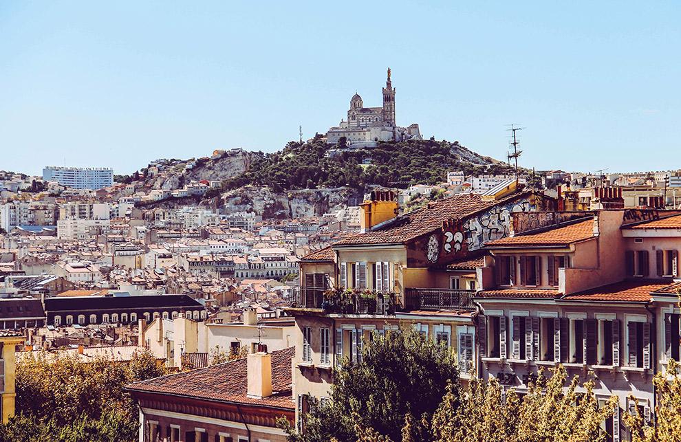 Het imposante Marseille bergopwaarts