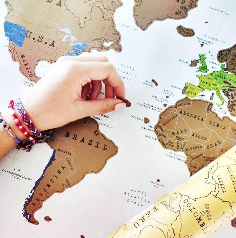 Kras landen die je hebt bezocht op de Luckies kraskaart