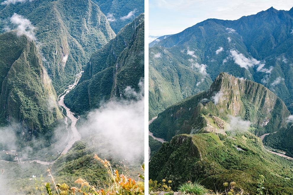 Groene valleien rondom verborgen Inca-stad Machu Picchu