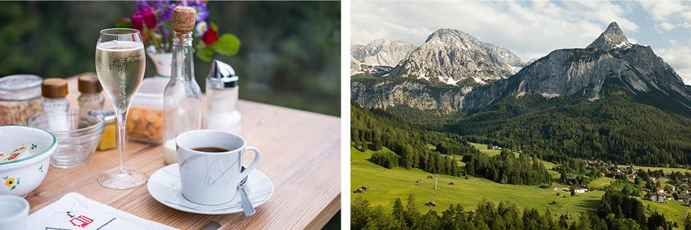 Ontbijten met uitzicht in de Zugspitze gondelbaan