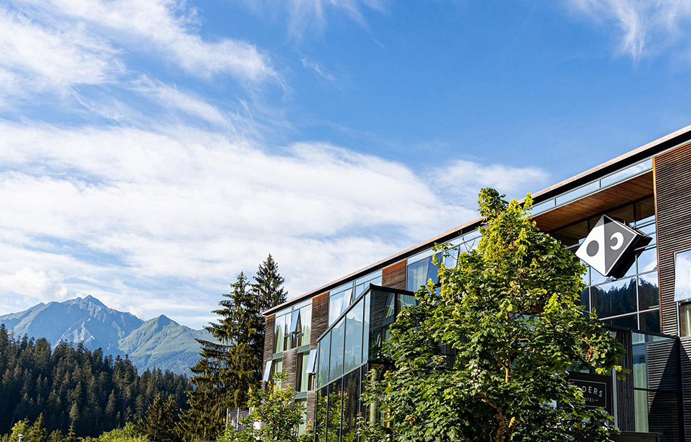 Ecologisch Riders Hotel in Laax, Zwitserland