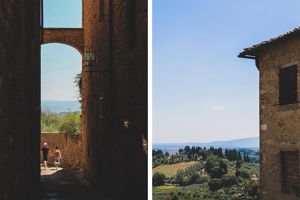 Smalle steegjes en een oneindig uitzicht over de Toscaanse valleien