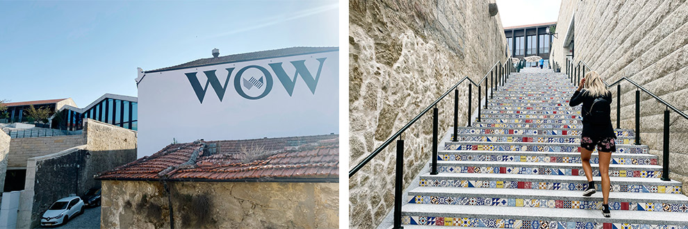 Betreed World of Wine in Portugal via een kleurrijke typisch Portugese trap