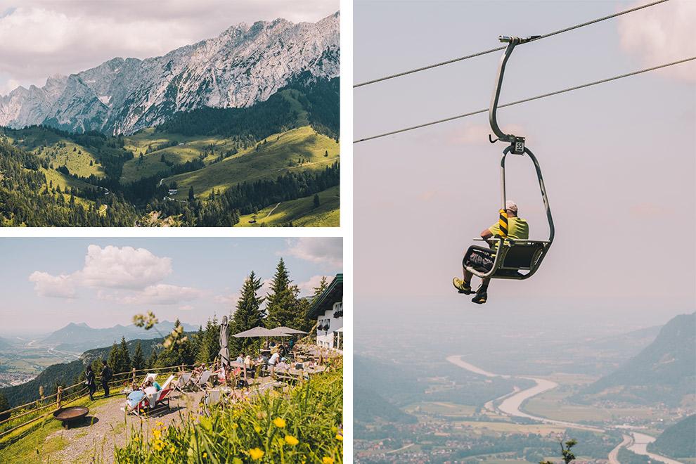 Uitzicht vanaf Kaiserlift en gezellig terras op grote hoogste