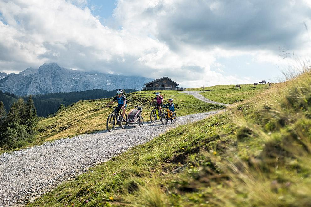 Met de fiets het Saalachtal gebied in Oostenrijk verkennen